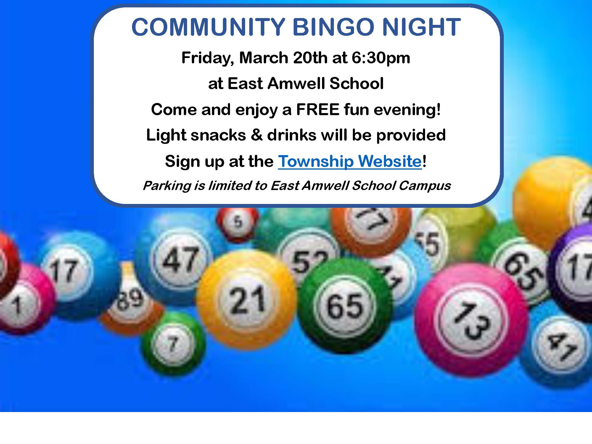 Township Bingo Night Flyer FINAL