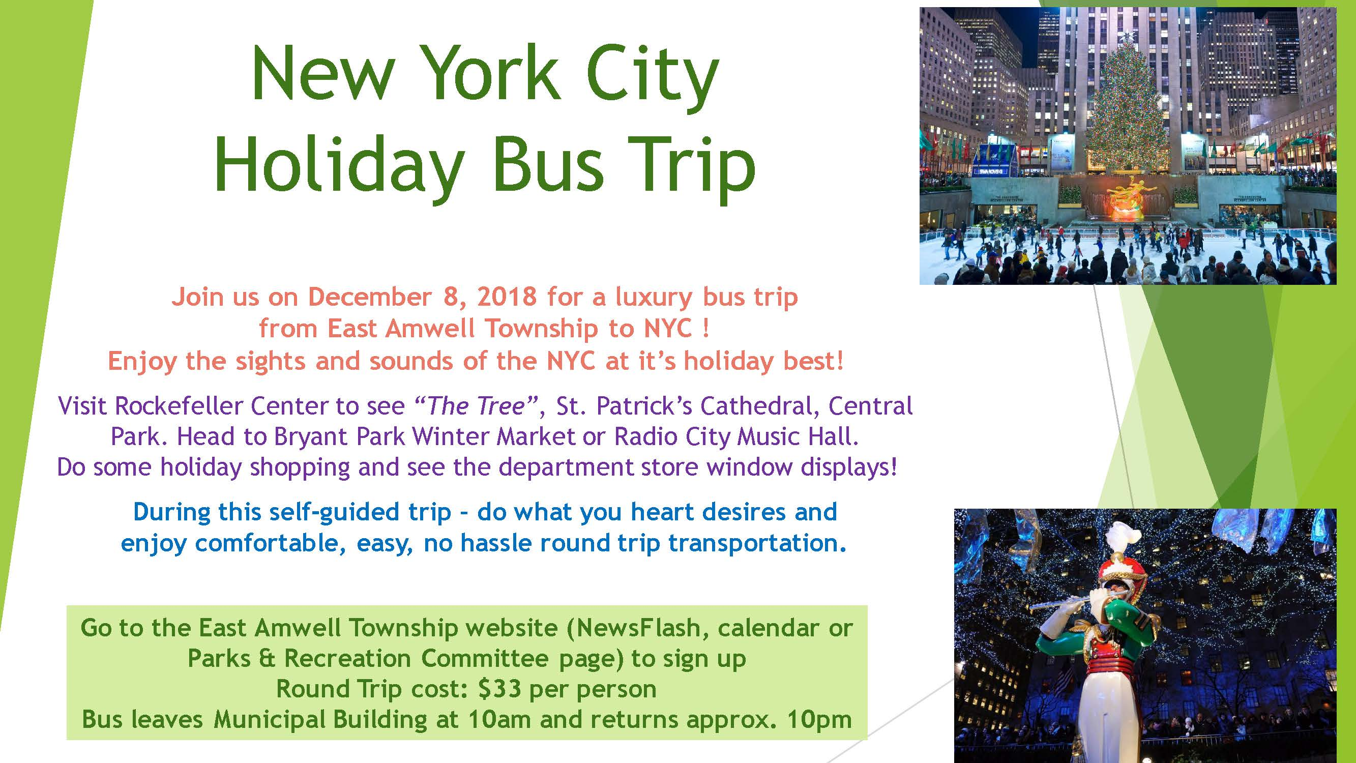 New York City Holiday Bus Trip