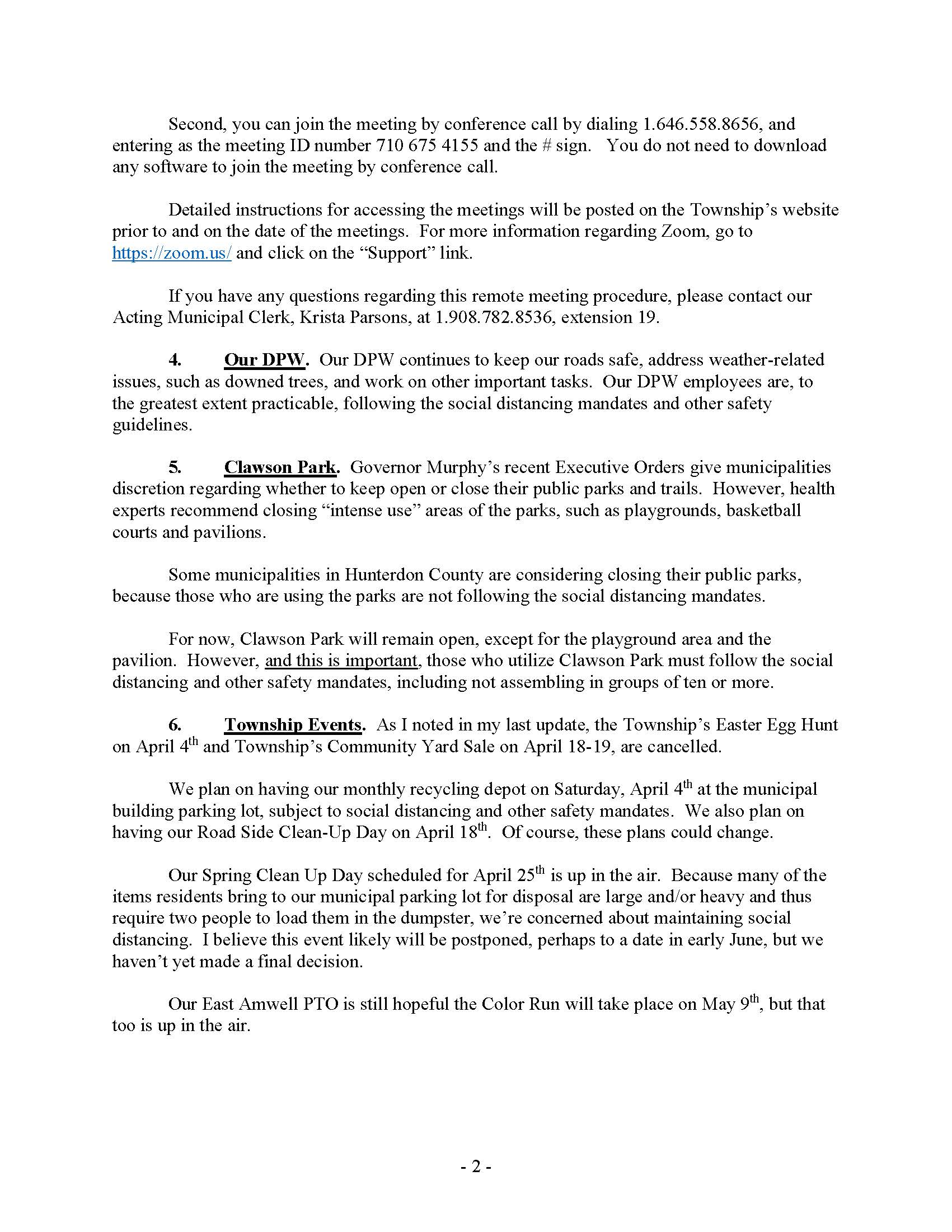 RAW (East Amwell)_  3_28_2020 Update to Residents re COVID-19 Matters (1)_Page_2
