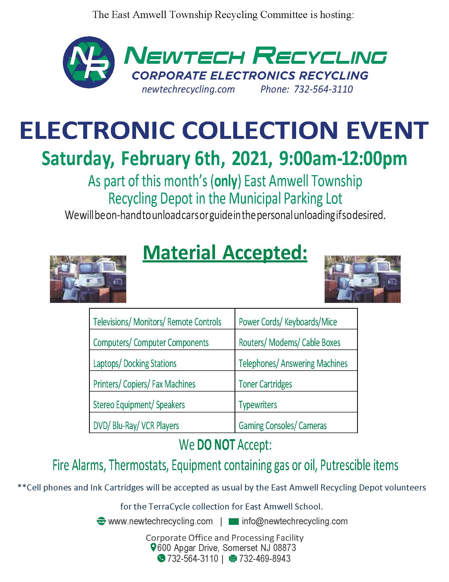 New Tech Electronics Recycling Day at Recycling Depot February 2021