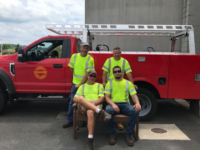 DPW with Bench and New Truck